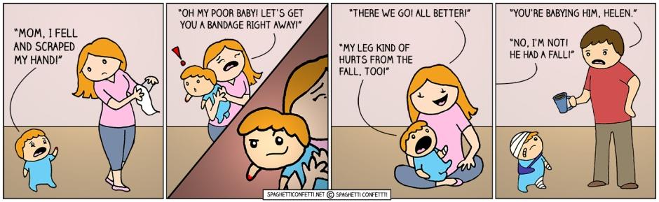 babying
