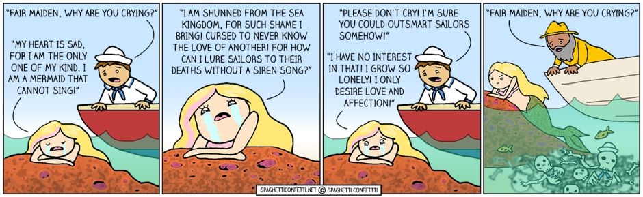 mermaid can't sing