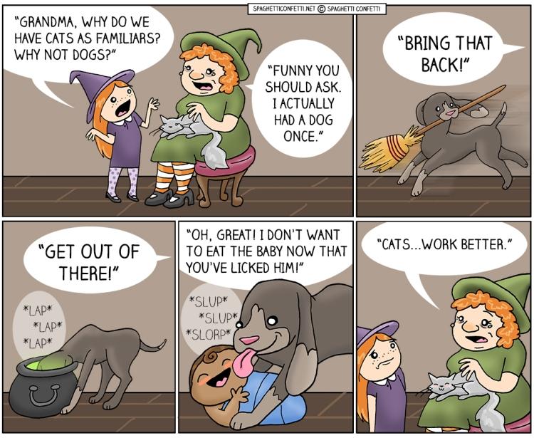 witch pet dog_110